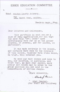 Apple Book letter - 24 Sept. 1949