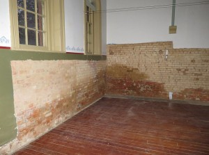 The north west corner of our building which is where most of the damp penetration had occurred.