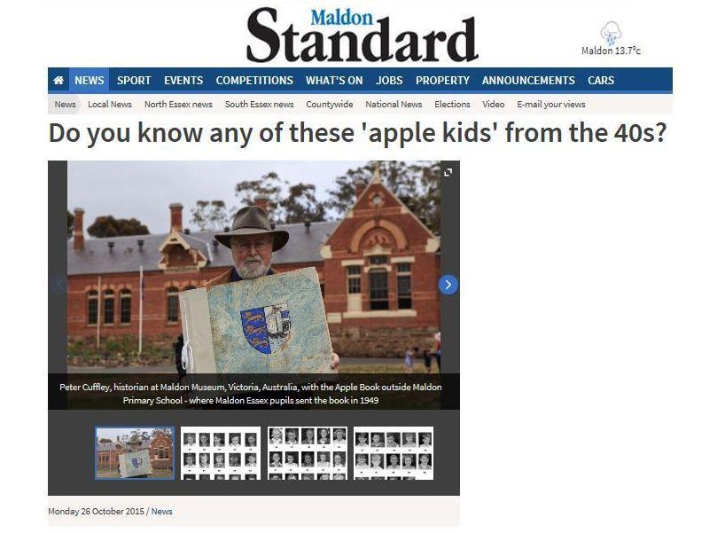 Appeal for 'apple kids' names, Maldon, Essex in October 2015