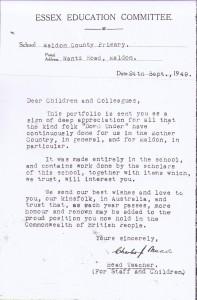 Apple Book letter - 24 Sept. 1949